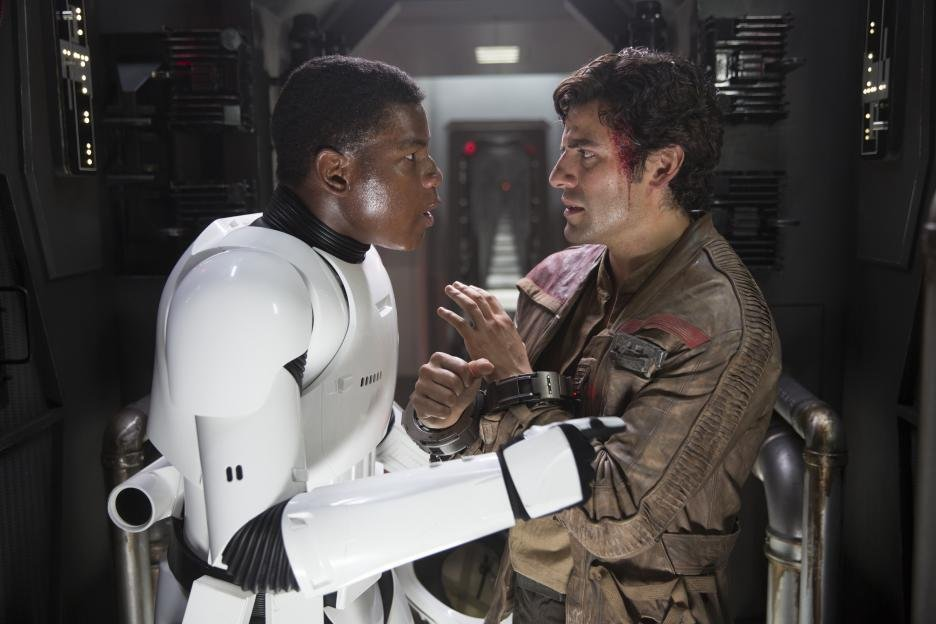 Jon Boyega, Oscar Isaac - The Force Awakens